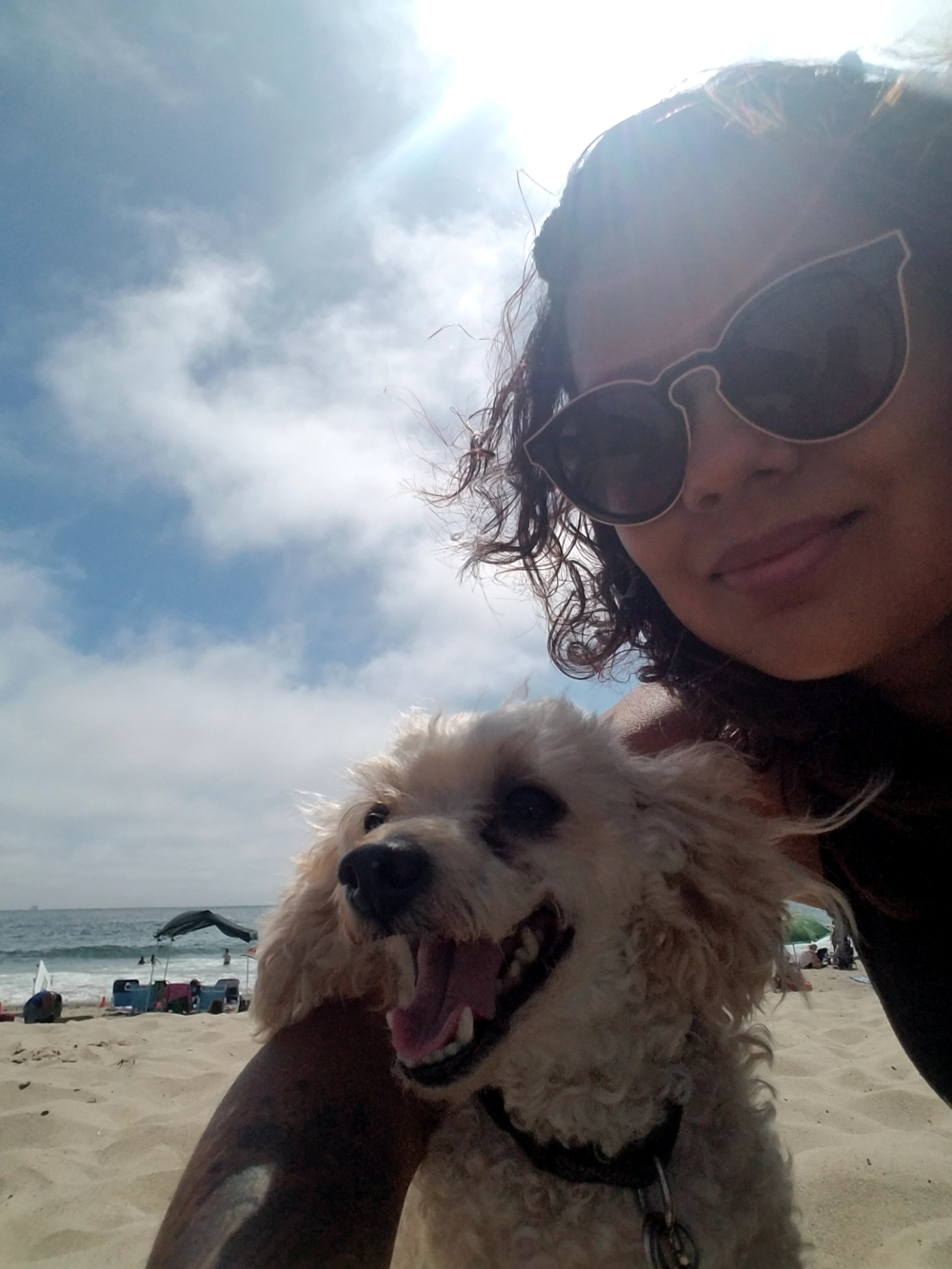 Max and I are too cute with our selfie game at Carpinteria State Beach